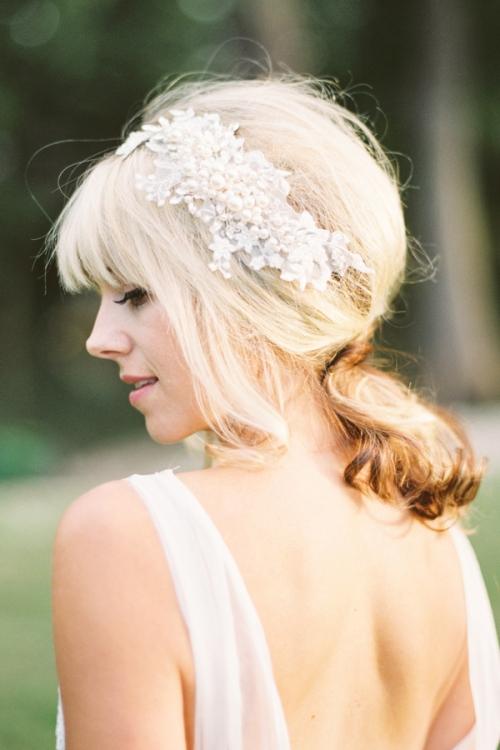 Pearl Encrusted Bridal Hairpiece by Bride La Boheme