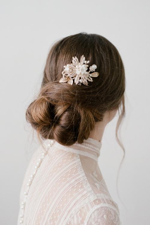 Golden Hair Comb by Bride La Boheme