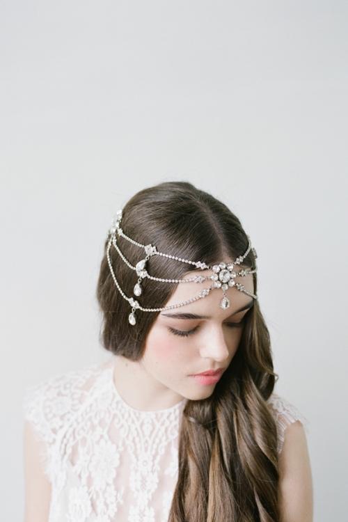 Wedding Crystal Headpiece by Bride La Boheme