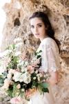 Crystal Embroidered Bridal Cape by Bride La Boheme