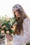 Heirloom Mantilla Veil with Crystals by Bride La Boheme