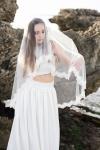 Elbow Length Bridal Veil by Bride La Boheme