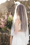 Intricately Hand Embroidered Wedding Veil by Bride La Boheme
